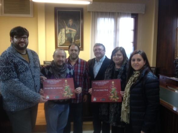 Jaime Lloret, Jaime Vallo (presidente Asoc. Belenes de La Vila) y Xaro Escrig con los ganadores