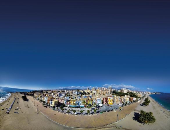 Casco Antiguo de La Villa en una imagen tomada con dron. Autor, Roberto Milán