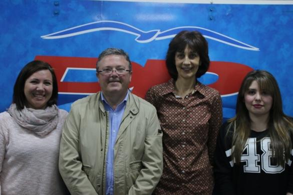 Ana María Alcaraz, Jaime Lloret, Vicenta Llinares y Carolina Blanco