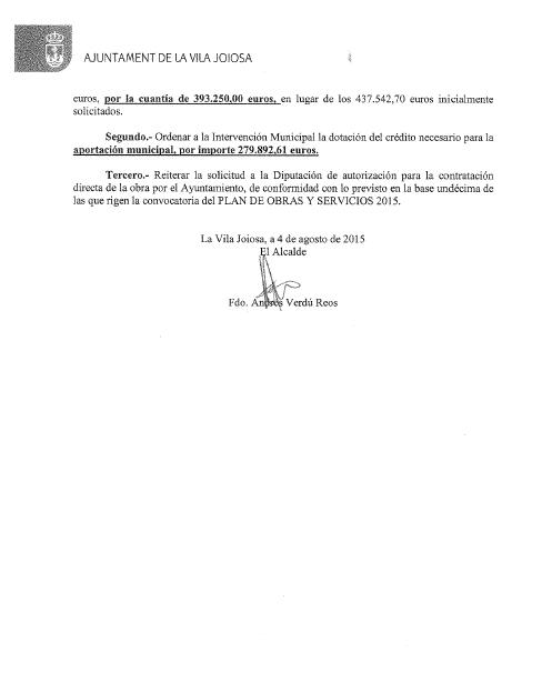 Documento oficial que refrenda el argumento del PP.