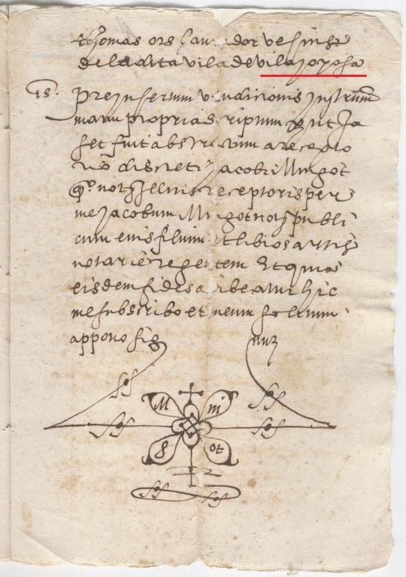 Escrito de 1566 sobre compra de tierra en la partida San Antonio