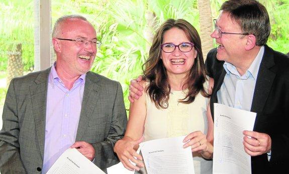 Acuerdo de gobierno entre PSPV-PSOE, Compromis y Podemos en el Botánico